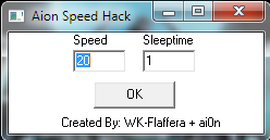 [PRIVAT]Speed Hack for Aion release 07.01.2011
